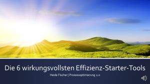Webinar Effizienzstartertools für die Prozessoptimierung