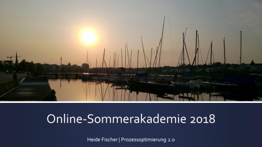 Sommerakademie Prozessoptimierung 2018