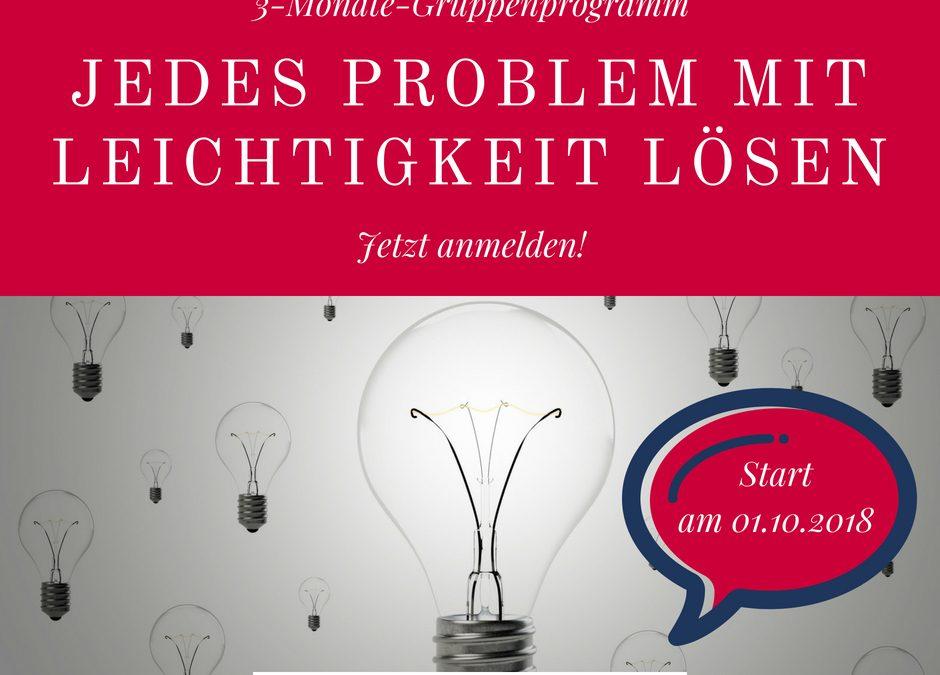 [Gruppenprogramm] Jedes Problem mit Leichtigkeit lösen